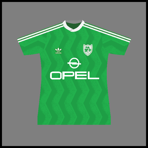 Ireland adidas 1986 shirt a with sponsor skinny