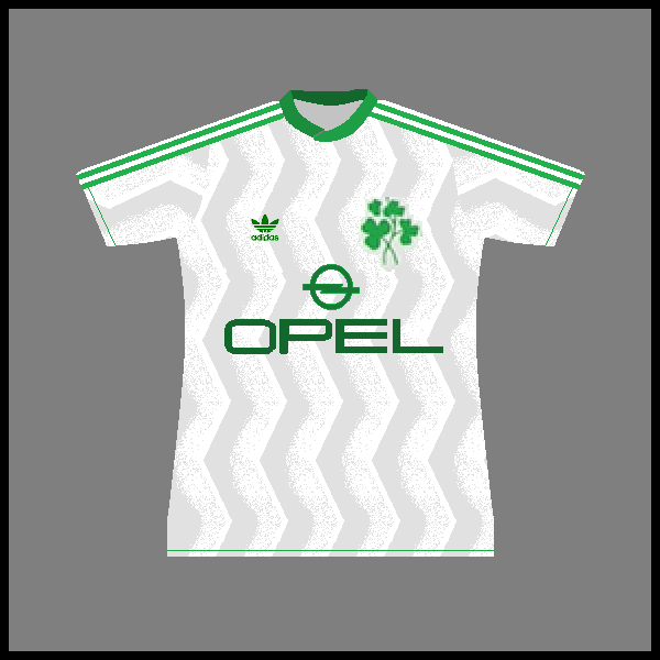 Ireland adidas 1986 shirt away with sponsor skinny